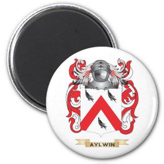 Escudo de armas de Aylwin (escudo de la familia) Imán Redondo 5 Cm