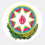 Escudo de armas de Azerbaijan Pegatina Redonda