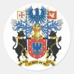 escudo de armas de Azores Pegatina Redonda