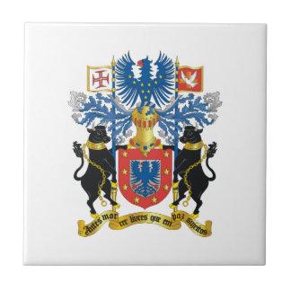 Escudo de armas de Azores (Portugal) Azulejo Cuadrado Pequeño