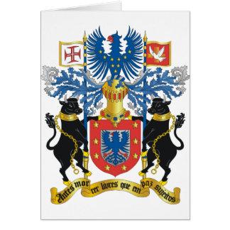 Escudo de armas de Azores (Portugal) Tarjeta De Felicitación