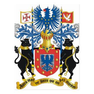 Escudo de armas de Azores (Portugal) Tarjetas Postales