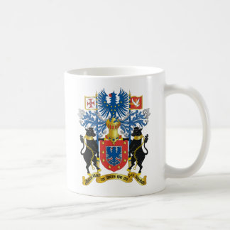 Escudo de armas de Azores (Portugal) Taza Básica Blanca