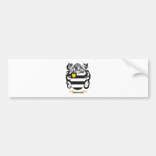 Escudo de armas de Babbage (escudo de la familia) Etiqueta De Parachoque