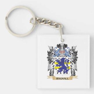 Escudo de armas de Bagnall - escudo de la familia Llavero Cuadrado Acrílico A Una Cara