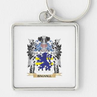 Escudo de armas de Bagnall - escudo de la familia Llavero Cuadrado Plateado