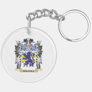 Escudo de armas de Bagnall - escudo de la familia Llavero Redondo Acrílico A Doble Cara