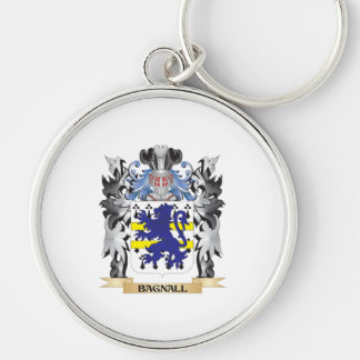 Escudo de armas de Bagnall - escudo de la familia Llavero Redondo Plateado