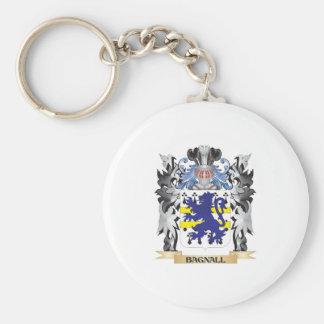 Escudo de armas de Bagnall - escudo de la familia Llavero Redondo Tipo Pin