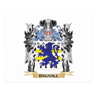 Escudo de armas de Bagnall - escudo de la familia Tarjeta Postal