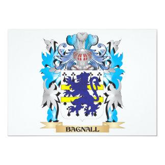 """Escudo de armas de Bagnall Invitación 5"""" X 7"""""""