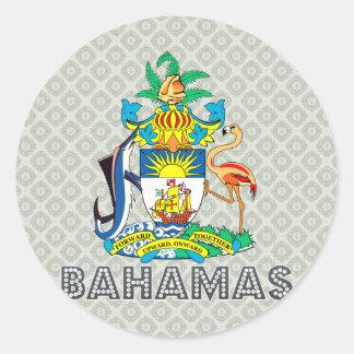 Escudo de armas de Bahamas Etiquetas