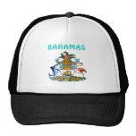 Escudo de armas de Bahamas Gorras De Camionero