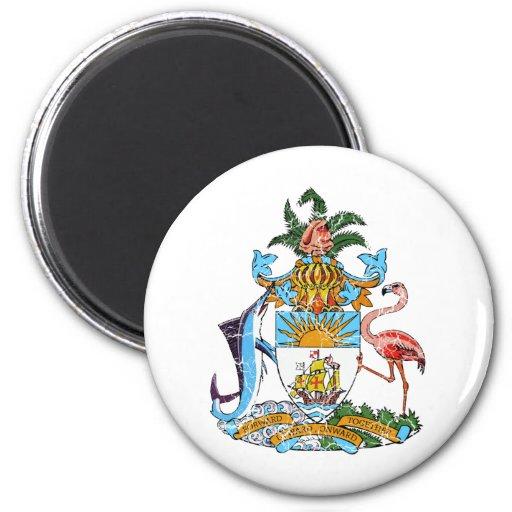 Escudo de armas de Bahamas Imán Redondo 5 Cm