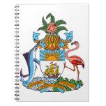 Escudo de armas de Bahamas Libreta Espiral