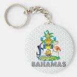Escudo de armas de Bahamas Llavero Redondo Tipo Pin