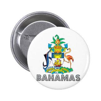 Escudo de armas de Bahamas Pin Redondo De 2 Pulgadas
