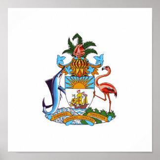 Escudo de armas de Bahamas Póster