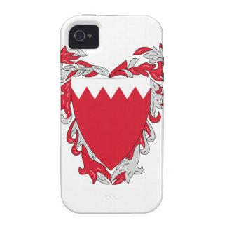 Escudo de armas de Bahrein Vibe iPhone 4 Carcasas