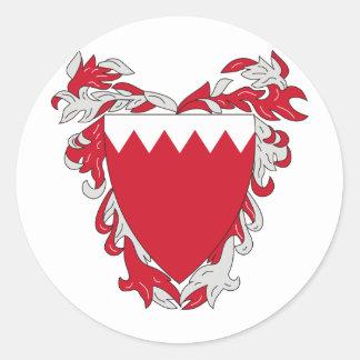 Escudo de armas de Bahrein Pegatina Redonda