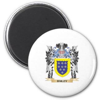 Escudo de armas de Bailey - escudo de la familia Imán Redondo 5 Cm
