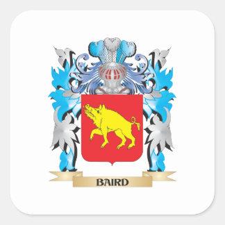 Escudo de armas de Baird Pegatina Cuadradas Personalizada