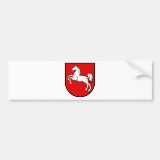Escudo de armas de Baja Sajonia (Alemania) Pegatina Para Auto
