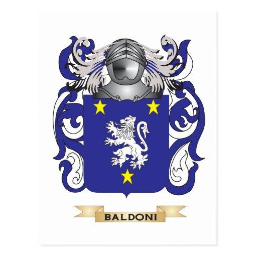 Escudo de armas de Baldoni (escudo de la familia) Postal
