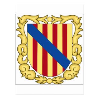 Escudo de armas de Balearic Island (España) Postal