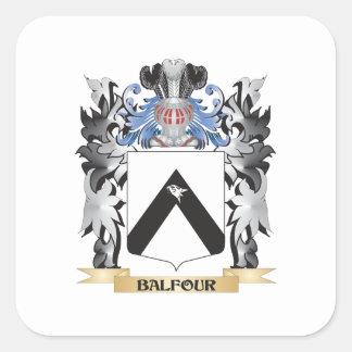 Escudo de armas de Balfour - escudo de la familia Pegatina Cuadrada