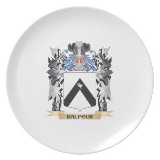 Escudo de armas de Balfour - escudo de la familia Plato Para Fiesta
