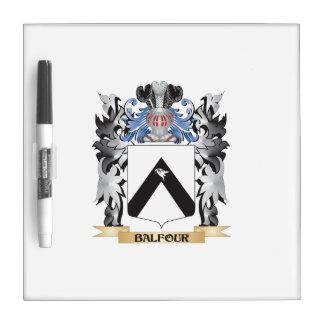 Escudo de armas de Balfour - escudo de la familia Tableros Blancos