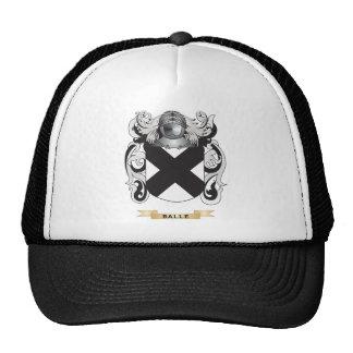 Escudo de armas de Balle escudo de la familia Gorros Bordados