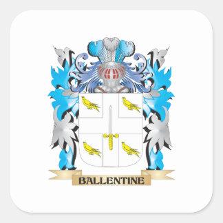Escudo de armas de Ballentine Pegatinas Cuadradas