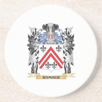 Escudo de armas de Bamber - escudo de la familia Posavasos De Arenisca