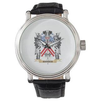 Escudo de armas de Bamber - escudo de la familia Reloj