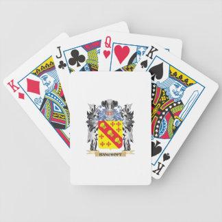 Escudo de armas de Bancroft - escudo de la familia Baraja Cartas De Poker