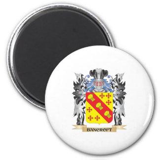 Escudo de armas de Bancroft - escudo de la familia Imán Redondo 5 Cm