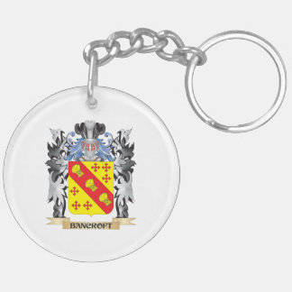 Escudo de armas de Bancroft - escudo de la familia Llavero Redondo Acrílico A Doble Cara