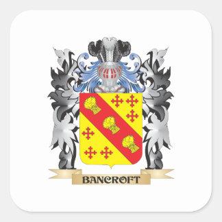 Escudo de armas de Bancroft - escudo de la familia Pegatina Cuadrada