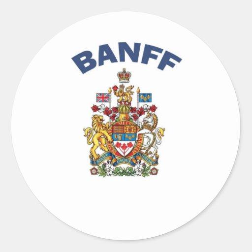 Escudo de armas de Banff Etiquetas