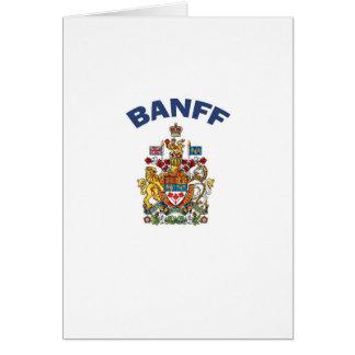 Escudo de armas de Banff Tarjeta De Felicitación