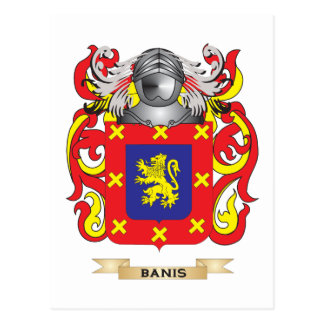 Escudo de armas de Banis (escudo de la familia) Postal