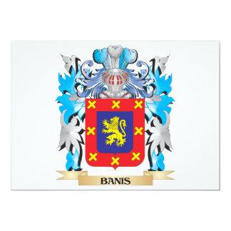 """Escudo de armas de Banis Invitación 5"""" X 7"""""""