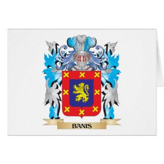 Escudo de armas de Banis Tarjeta Pequeña