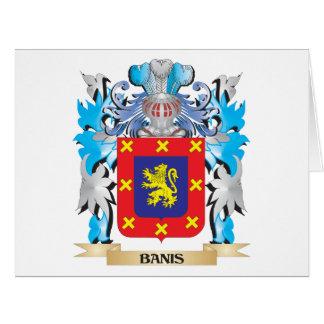 Escudo de armas de Banis Tarjeta De Felicitación Grande