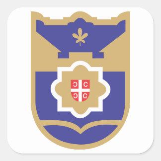 Escudo de armas de Banja Luka Pegatina Cuadrada