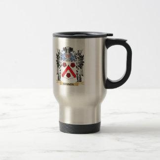 Escudo de armas de Bannon - escudo de la familia Taza De Viaje De Acero Inoxidable