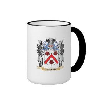 Escudo de armas de Bannon - escudo de la familia Taza A Dos Colores