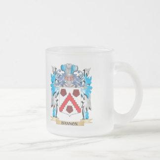 Escudo de armas de Bannon Taza Cristal Mate
